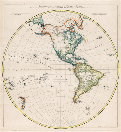 71-Western Hemisphere, South America and America Map By Jean-Baptiste Bourguignon d'Anville