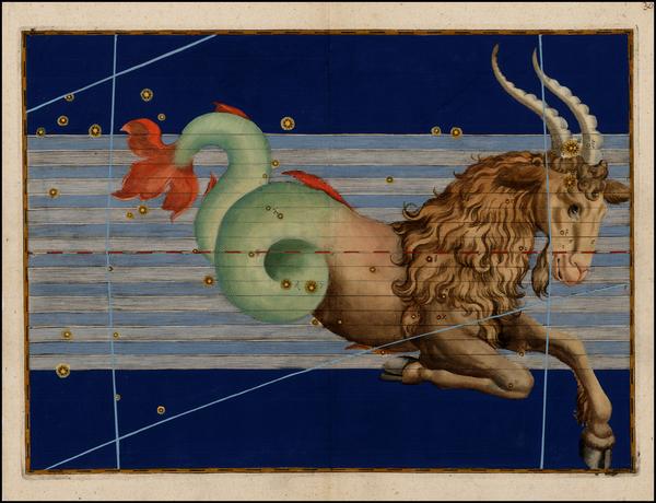 63-Celestial Maps Map By Johann Bayer