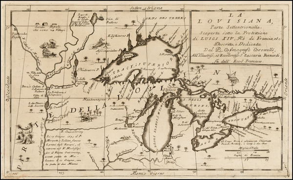 28-Midwest and Canada Map By Vincenzo Maria Coronelli