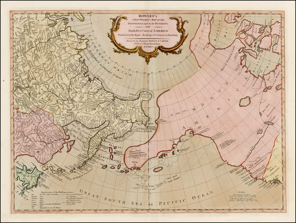 Alaska, Canada, Pacific and Russia in Asia Map By Carrington Bowles  &  Jonathan Carver