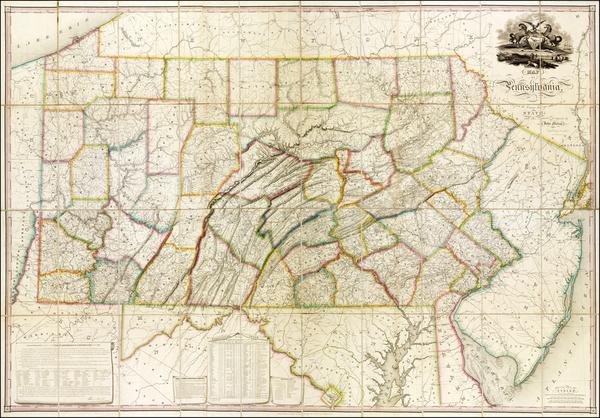 66-Pennsylvania Map By John Melish