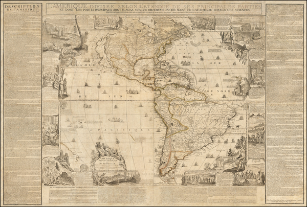 33-North America, South America and America Map By Nicolas de Fer / Guillaume Danet / Jacques-Fran