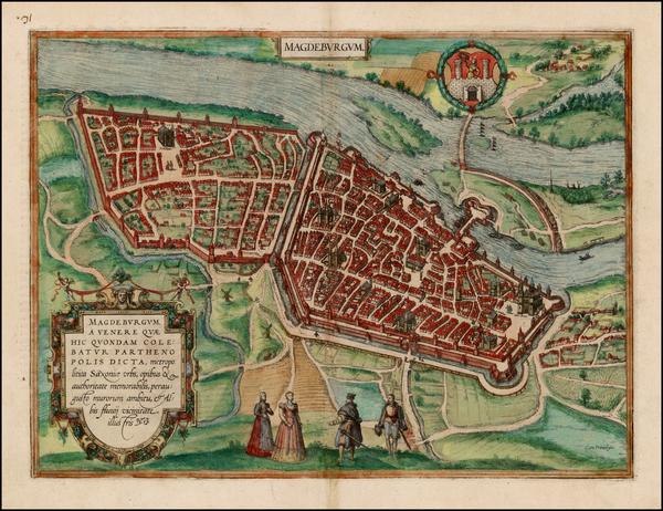 63-Germany Map By Georg Braun  &  Frans Hogenberg