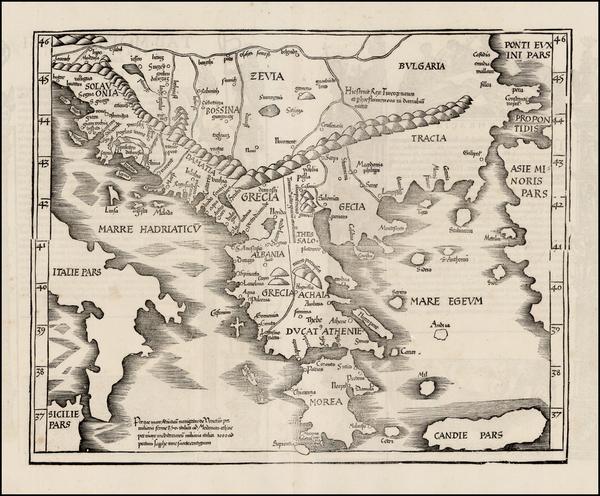 79-Greece Map By Lorenz Fries