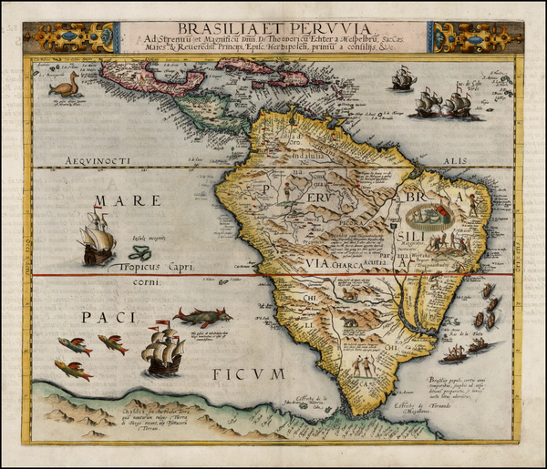 52-South America and Brazil Map By Cornelis de Jode