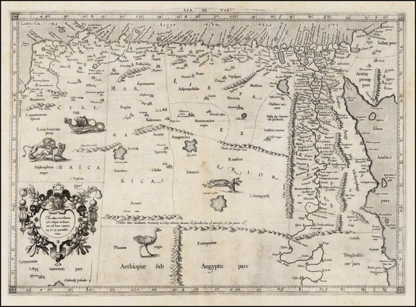 56-Egypt and North Africa Map By  Gerard Mercator