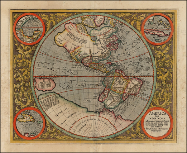 55-World, Western Hemisphere, South America and America Map By Michael Mercator