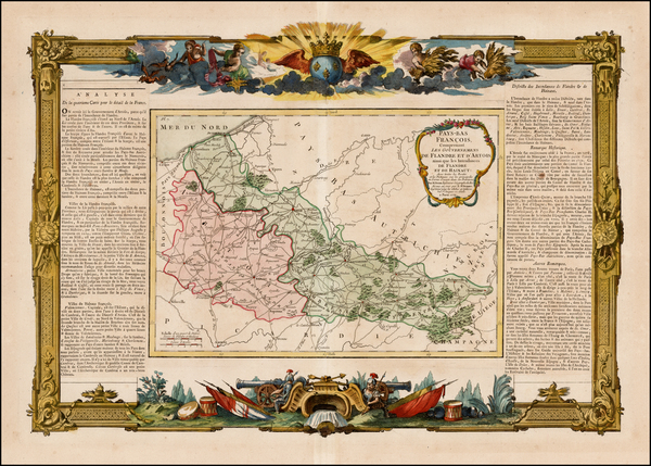 90-Belgium Map By Louis Brion de la Tour