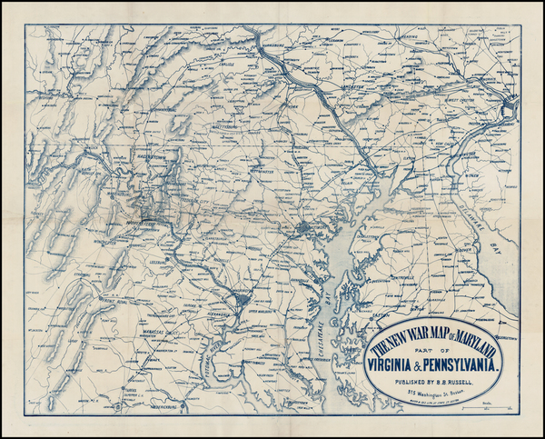 9-Mid-Atlantic, Pennsylvania and Southeast Map By Ferdinand Mayer & Co.