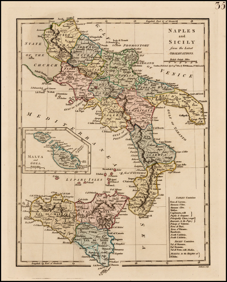 8-Italy and Balearic Islands Map By Robert Wilkinson