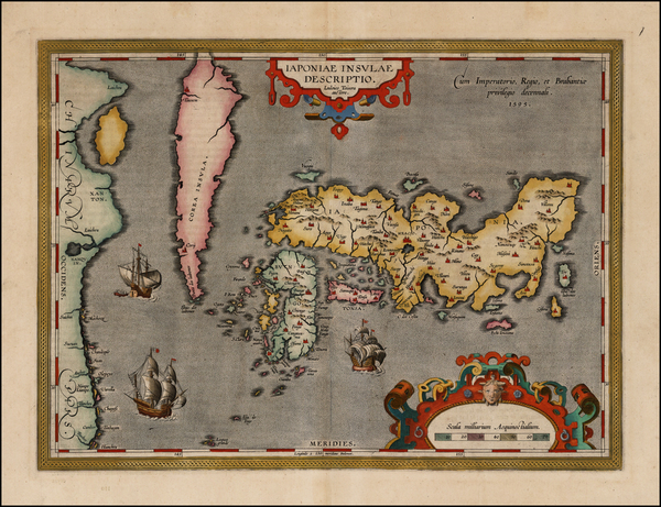 21-Japan and Korea Map By Abraham Ortelius