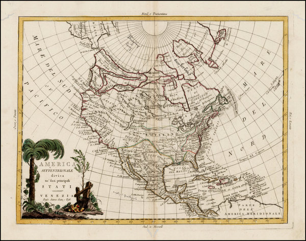 38-Alaska and North America Map By Antonio Zatta
