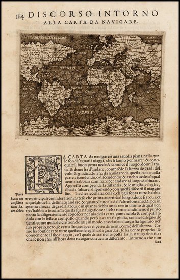 World and World Map By Tomasso Porcacchi