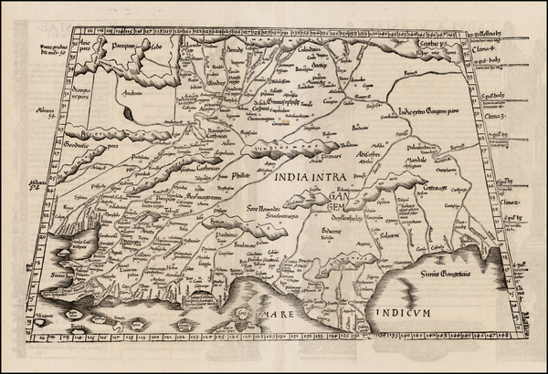 52-India and Central Asia & Caucasus Map By Lorenz Fries