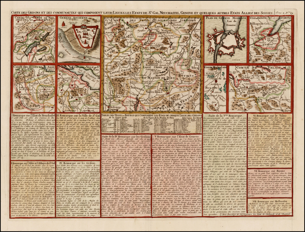 13-Switzerland Map By Henri Chatelain