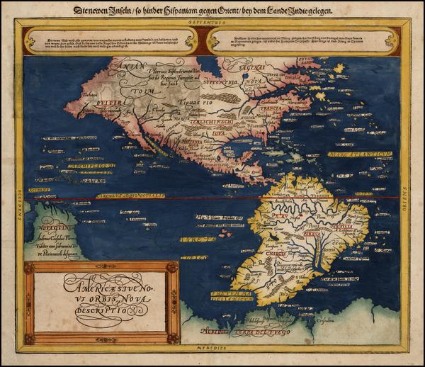 99-Western Hemisphere, South America and America Map By Sebastian Munster