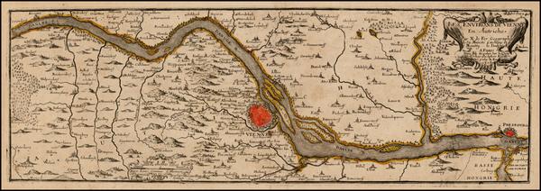 87-Austria Map By Nicolas de Fer