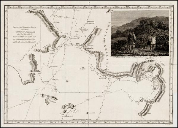 87-Alaska Map By James Cook - J. C. G. Fritzsch
