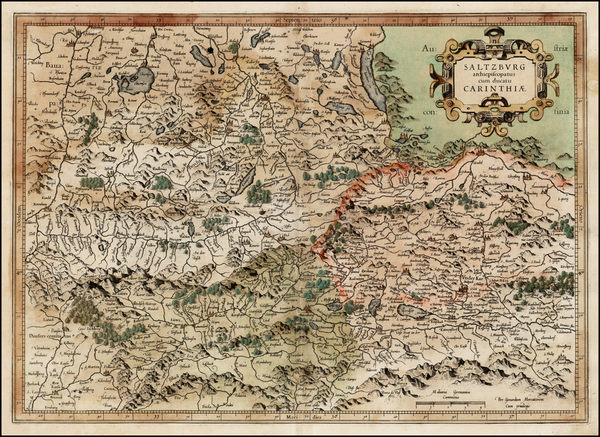 46-Austria Map By  Gerard Mercator