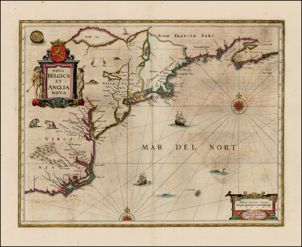 59-New England, Mid-Atlantic and Southeast Map By Jan Jansson