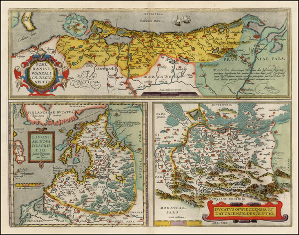 37-Germany, Poland, Romania and Baltic Countries Map By Abraham Ortelius