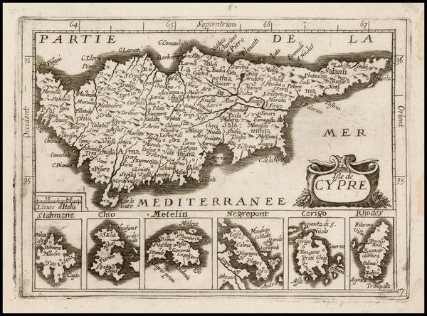 Cyprus Map By Jean Picart / Antoine De Fer