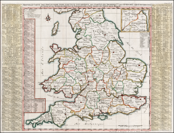 89-England Map By Henri Chatelain