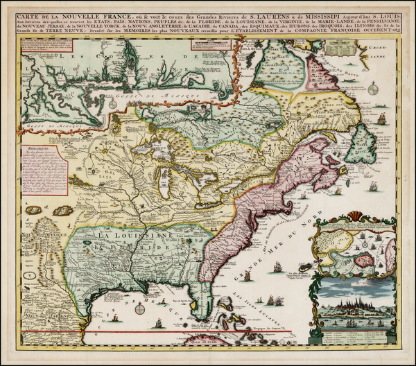 28-United States, Mid-Atlantic, South, Southeast, Midwest, Plains, North America and Canada Map By