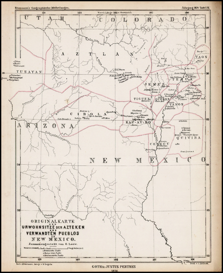 8-Southwest, New Mexico and Rocky Mountains Map By Augustus Herman Petermann