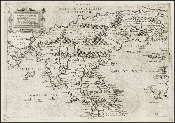 74-North America, Central America and Pacific Map By Paolo Forlani / Bolognini Zaltieri