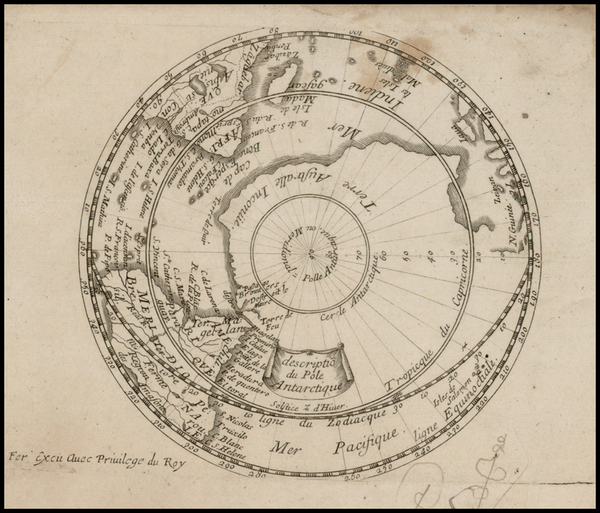 56-Southern Hemisphere and Polar Maps Map By Antoine De Fer