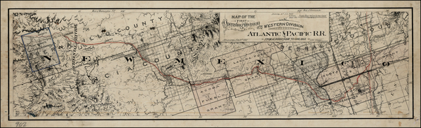 10-Southwest and California Map By Atlantic & Pacific Railroad