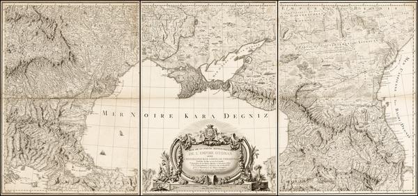 46-Russia, Ukraine, Hungary, Romania, Balkans and Turkey & Asia Minor Map By Giovanni Antonio