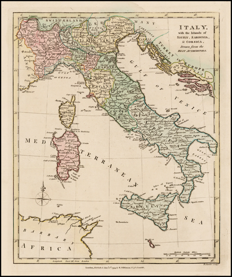 17-Italy and Balearic Islands Map By Robert Wilkinson