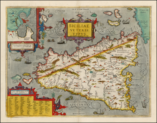 68-Italy and Balearic Islands Map By Abraham Ortelius
