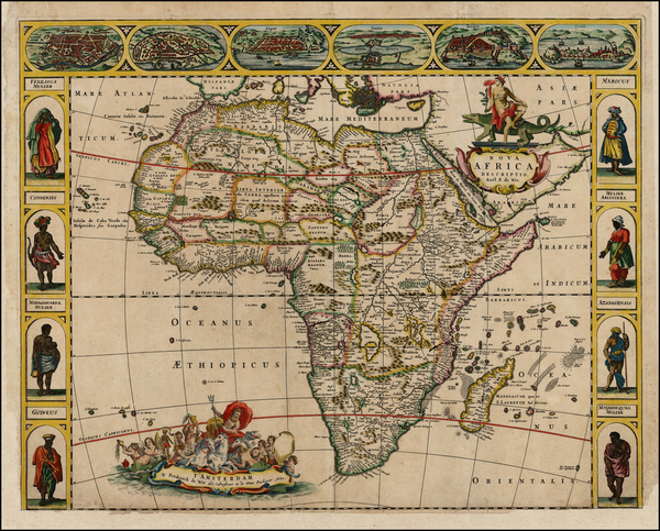 93-Africa and Africa Map By Frederick De Wit