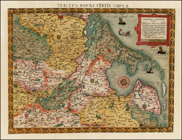 82-Netherlands, Luxembourg and Germany Map By Cornelis de Jode