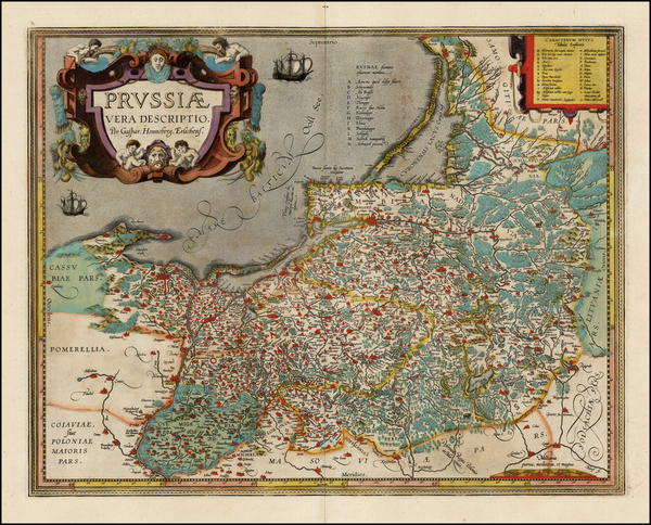 27-Germany, Poland and Baltic Countries Map By Abraham Ortelius