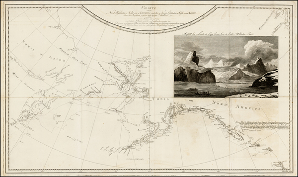 4-Polar Maps, Alaska, Canada, Pacific and Russia in Asia Map By James Cook / J. C. G. Fritzsch