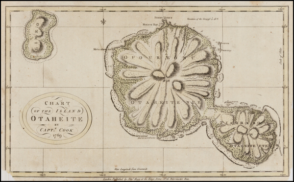 79-Australia & Oceania, Oceania and Other Pacific Islands Map By James Cook