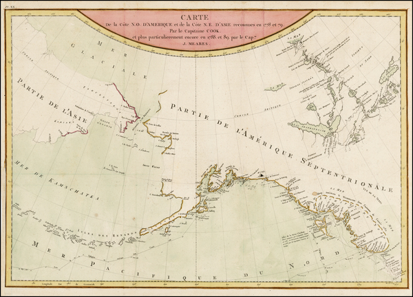 37-Alaska, Canada, Pacific and Russia in Asia Map By John Meares