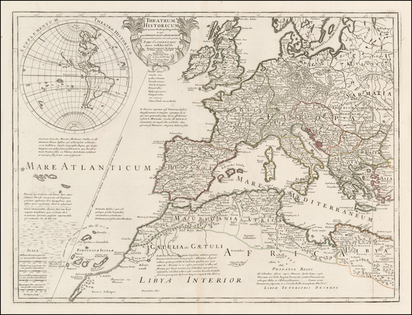 12-South America, Europe, British Isles, Mediterranean and America Map By Guillaume De L'Isle