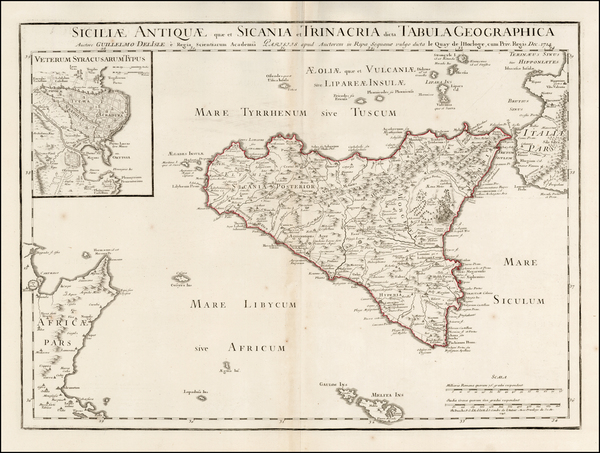 77-Italy and Sicily Map By Philippe Buache
