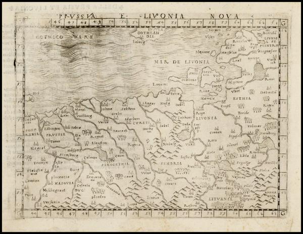 68-Poland and Baltic Countries Map By Giacomo Gastaldi