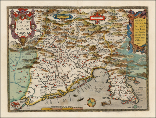 19-Balkans and Italy Map By Abraham Ortelius