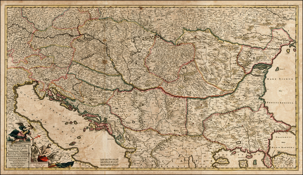44-Austria, Hungary, Romania, Czech Republic & Slovakia, Balkans and Turkey Map By Frederick D