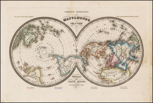26-World, World, Northern Hemisphere, Southern Hemisphere and Polar Maps Map By Francesco Marmocch