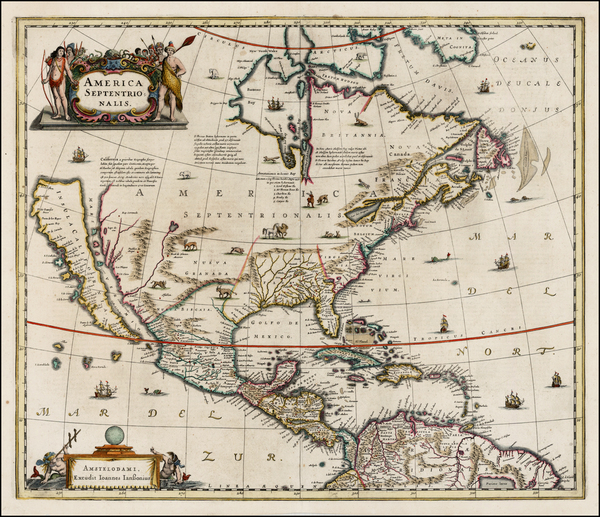 63-North America and California Map By Jan Jansson
