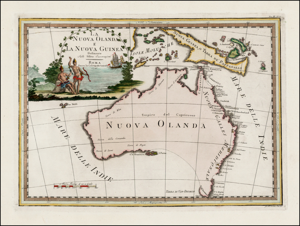 66-Australia Map By Giovanni Maria Cassini