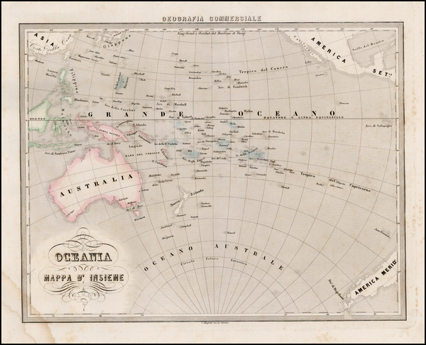 50-Australia & Oceania, Pacific and Oceania Map By Francesco Marmocchi